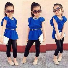 2PCS-New-Baby-Girls-Kids-Shirt-Dress-Legging-Pants-Casual-Clothes-Sets-Outfits
