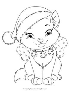 halloween coloring pages FREE Christmas Kitten Coloring Page printable. PRINT and COLOR Christmas PDF Coloring Books from PrimaryGames. Our online collection of EASY and ADULT Coloring Pages feature the BEST pictures for you to color. Christmas Present Coloring Pages, Printable Christmas Coloring Pages, Halloween Coloring Pages, Free Christmas Printables, Christmas Coloring Sheets For Kids, Cat Coloring Page, Animal Coloring Pages, Coloring Book Pages, Coloring Pages For Kids
