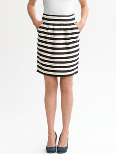 Striped Knit Skirt / Banana Republic