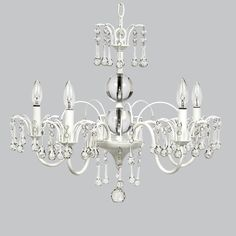 White 5 Light Wistful Chandelier by Jubilee Collection