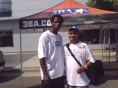 """Here I am with The """"Iron Man"""", A.C. Green."""