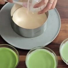 Matcha Mousse Cake is a pretty perfect dessert for you and match it with a Matcha Latte.