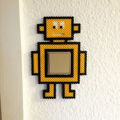 Robot light switch cover hama beads by jeanetterosenvind