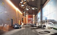 Design of the entrance area. Alcon development. on Behance