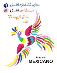 Próximamente plantillas y tutoriales de bordados otomíes de Tenango de noria hidalgo una bella expresión artesanal, suscríbete para que te llegen los videos y puedas bajar plantillas como esta, solo descarga imprime pasa a tela y a bordar se a dicho !!!!! Mexican Embroidery, Embroidery Art, Cross Stitch Embroidery, Embroidery Designs, Fabric Paint Shirt, Mexican Pattern, Bird Template, Painted Hats, Mexican Folk Art