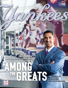 Jorge Posada on the cover of Yankees Magazine#Repin By:Pinterest++ for iPad#