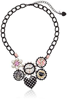 "Betsey Johnson ""Wonderland"" Mixed Charm Necklace, 14''+3'' Extender Betsey Johnson http://www.amazon.com/dp/B00NLRK4L4/ref=cm_sw_r_pi_dp_d-fRub1PF3QNC"