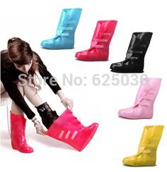 free shipping Thickening bearcat  rainboots female fashion slip-resistant rain shoe covers rainboots set water shoes