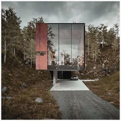 The power of rendered design. I came across this project when I first started my account and it still resonates with me. This home is to be cantilevered by a concrete poured slab, boasting views through the glass wall which looks out toward the national park. The materials used for the facade both reflects and corresponds to the natural surroundings.  House for a photographer By Hyde + Hyde Architects
