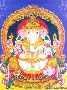 Mysore Painting, Kalamkari Painting, Tanjore Painting, Ganesha Drawing, Lord Ganesha Paintings, Ganesha Art, Ganesh Lord, Sri Ganesh, Cat Pokemon