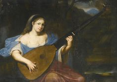 Franco-Flemish School, 17th century - A LADY PLAYING A LUTE IN A LANDSCAPE   Lot   Sotheby's