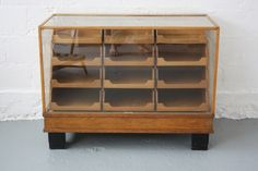 Small mid-century shop counter
