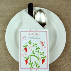 Eco chilli seed favour packs from cherrygorgeous.co.uk
