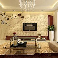 Design Feature Wall Design, Tv Wall Design, Design Case, Wall Unit Designs, Living Room Tv Unit Designs, Tv Unit Decor, Tv Unit Furniture, Modern Tv Wall Units, Estilo Interior