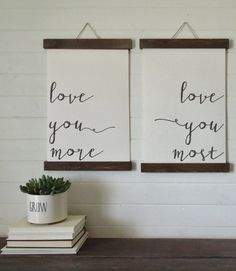 love you more love you most/canvas art print/wood by thewoodedlane