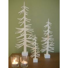 Modern Gifts for all Occasions nordic tree wood silhouette holiday decoration - WANT for the Holidays