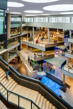 Green building would be the practice of building constructions and utilizing guidelines which get eco responsible and resource-efficient. Atrium Design, Plaza Design, Mall Design, Sustainable Architecture, Architecture Office, Architecture Design, Microsoft, Shoping Mall, Shopping Mall Interior
