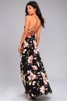 25d6c95497b Adventure Seeker Black Floral Print Maxi Dress