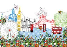 wallpaper for a kids room - memories of London