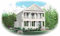 Southern Style House Plans - 1830 Square Foot Home, 2 Story, 3 Bedroom and 3 3 Bath,  Garage Stalls by Monster House Plans - Plan 6-1614