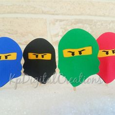 Ninjago cupcake topper, Ninjago birthday party, Ninjago party decor, Ninjago Lego birthday, Ninjago topper, ninjago birthday, Ninja birthday, Ninja cake topper, ninjago birthday party ideas, Ninjago birthday decor, Lego ninjago cake topper