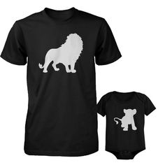 7ffdec3c Lion and Cub / Dad and Baby Matching Set / Dad Shirt and Baby Shirt / 2 t- shirts per order Dad and 1 Baby Shirt). Funny Lion and Cub. Matching Dad  Shirt ...