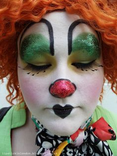 http://WhoLovesYou.ME | #clowns Good use of face space in the brows, would be a good look with glasses #clowns #circus
