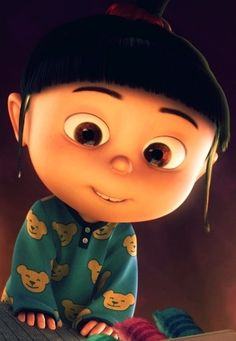 Agnes from Despicable Me!.. Is it possible to have a kid like her. I love her:)
