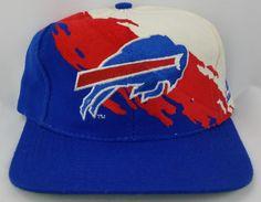 ad7082d16e4 Buffalo Bills Vintage Snapback Logo Athletic Splash Hat NFL Rare Starter Cap  Bills Logo
