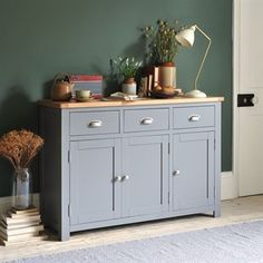 Florence Grey Large Sideboard - The Cotswold Company Sideboard Decor, Painted Sideboard, Small Sideboard, Modern Sideboard, Credenza, Painted Furniture, Kitchen Sideboard, Furniture Redo, Furniture Design