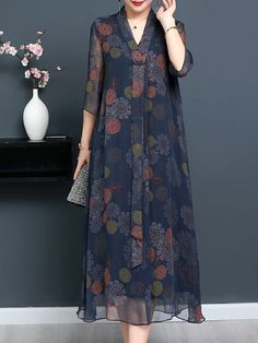 Vintage Print Sleeve V-neck Tie Elegant Dresses is high-quality, see other cheap summer dresses on NewChic Mobile. Elegant Dresses, Women's Dresses, Casual Dresses, Fashion Dresses, Formal Dresses, Dance Dresses, Short Dresses, Half Sleeve Dresses, Half Sleeves