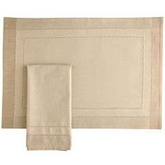Product Details - Sand Hemstitch Napkin & Placemat