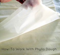 How-To Work with Phyllo Dough - California Greek Girl — California Greek Girl Phylo Dough Recipes, Phyllo Recipes, Puff Pastry Recipes, Appetizer Recipes, Cooking Recipes, Cooking Tips, Appetizers, Cuban Recipes, Greek Recipes