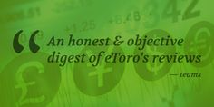 At eToro Reviews we gather and analyze objectively all authoritative reviews about eToro in one place.  Our goal is to make it easier for people, especially beginners, to decide wether or not eToro is the right trading platform for them. #formoredetails https://etoro.reviews