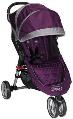 My favorite combo of colors- in a stroller! Baby Jogger City Mini Single - Purple/Gray - Best Price