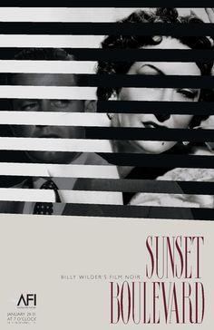 Billy Wilder's Film Noir Poster Series by Kristin Royer, via Behance