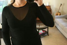 Stitch Fix Review October 2015 #stitchfix THML Colinda Sheer V-Neck Sweater Black Sweaters, Sweaters For Women, Women's Sweaters, Outfits 2016, Stitch Fix Stylist, Street Chic, Fashion Beauty, Women's Fashion, What To Wear
