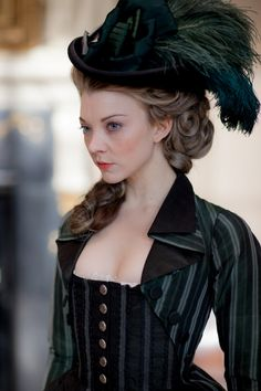 Natalie Dormer as Seymour, Lady Worsley in The Scandalous Lady W (2015).