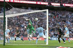 ~ Ben Watson of Wigan Athletic scoring the winner against Manchester City in the FA Cup Final ~ Fa Community Shield, Wigan Athletic, Fa Cup Final, The Championship, Ac Milan, Tottenham Hotspur, Manchester City, Real Madrid, Premier League
