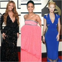 It was a big night for music, and fashion! Check out who wore what on music's biggest night on the Grammy red carpet.