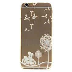Color Painting Soft TPU Back Case for iPhone 6 Plus/ 6S Plus - Dandelion& Bicycle