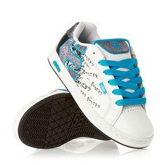Etnies Shoes - Etnies Fader W's Shoes - White/White/Black