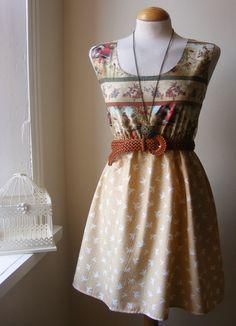 Jennifer Lilly Handmade Beautiful Bohemian Bird Lace Dress, $34.00