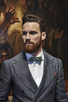 A ginger beard and a bow tie. (Suitsupply S/S Hair And Beard Styles, Hair Styles, Ginger Beard, Red Beard, Ginger Man, Great Beards, Beard Love, Moustaches, Beard No Mustache