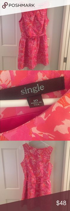 Single. Dress size 10. Cute, flirty, fun to wear! Cute pink cocktail dress. Worn once! Size 10. Single brand. single Dresses