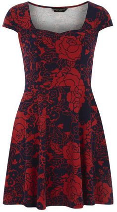 $29, Floral Print Sweetheart Dress by Dorothy Perkins. Sold by Dorothy Perkins. Click for more info: http://lookastic.com/women/shop_items/92300/redirect