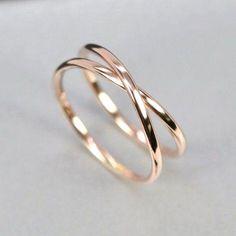 Beautiful Jewelry Rose Gold Infinity Ring, Eternity Band, Unique Wedding Band, sizes this listing, Sea Babe Jewelry Stylish Jewelry, Cute Jewelry, Jewelry Accessories, Fashion Jewelry, Jewelry Rings, Jewelry Ideas, Pandora Jewelry, Jewlery, Cheap Jewelry