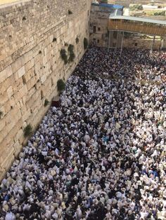 Tens of thousands of Jews at the Western Wall for the priestly blessing ceremony on April (Police Spokesperson) Jewish Temple, Temple Mount, Western Wall, Jerusalem Israel, In Ancient Times, Pilgrimage, City Photo, Police, Blessed