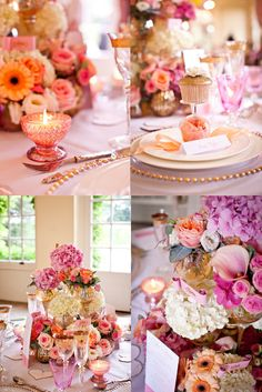 pink and gold wedding flowers, but I really just like the display positioning