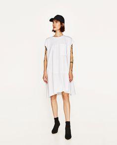 ZARA - WOMAN - COMBINED POPLIN DRESS